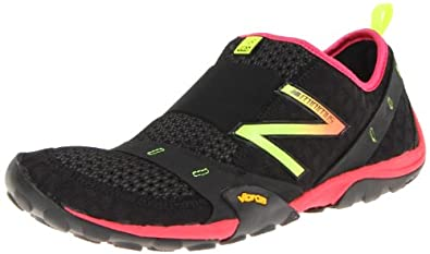New Balance Women's Minimus WT10 Trail Running Shoe,Black/Pink/Yellow,6.5 B US