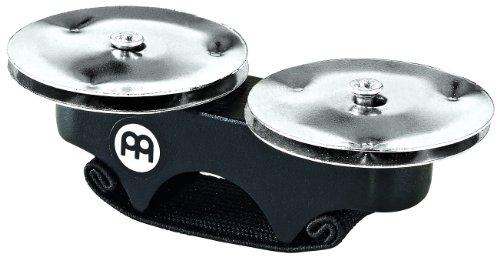 Meinl Percussion FJS1S-BK - Sonagli per dita, con cimbalini in acciaio, colore: Nero
