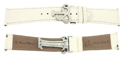 jacob-co-genuine-real-satin-white-cream-band-strap-22mm-for-47mm-watch