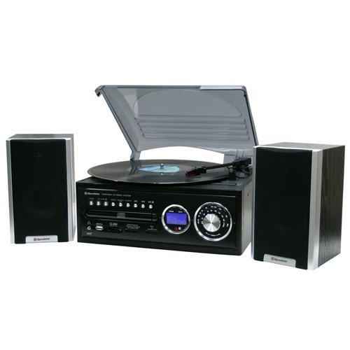 Roadstar HIF-8888TUMPN Sistema Stereo Hi-Fi con Radio FM, CD, LP, Dischi, USB, SD, MP3, Nero