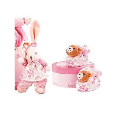 Kaloo Lilirose Floppy Rabbit & Bear Booties (0-6 months)