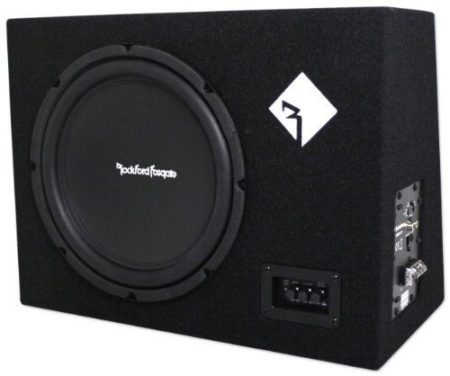 "Brand New Rockford Fosgate R300-12 300 Watt 12"" Powered Subwoofer + Remote Bass Level Control Included"