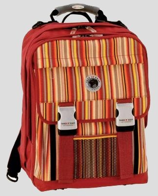 TAKE IT EASY SCHULRUCKSACK, MODELL RAINBOW - ROT