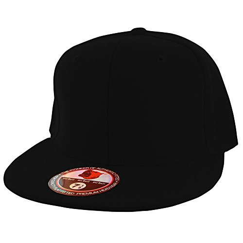Plain PitBull Flat Fitted Sized Baseball Cap (Fitted Hats compare prices)