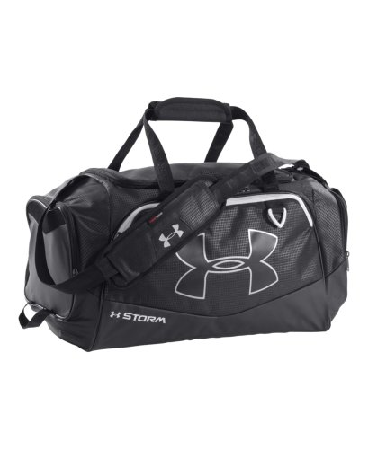 Under Armour Undeniable Duffel Bag, Black/White, Small image