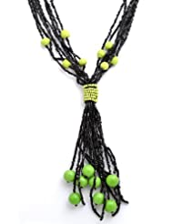 Laron Handicrafts Black And Green Tone Necklace For Women