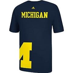 Buy Michigan Wolverines adidas Navy Getting Big T-Shirt by adidas