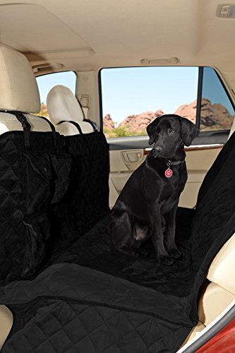 "Premium Microfiber Quilted Dog Car Seat Covers Waterproof/63"" Hammock,Non-Slip Backing, (Thick) Quilted Padding Universally fits"