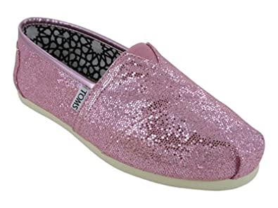 TOMS Women's Classics Shoe Pink Glitter Size 5 B(M) US