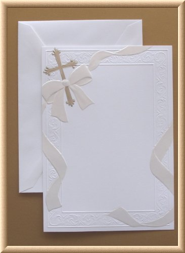 White Blank Printable Flat Card Silver Christian