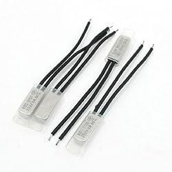 4 Pieces Bimetal Temperature Switch Thermostat 60 Degree Celsius NC KSD9700