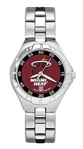 Miami Heat Ladies Pro Ii Bracelet Watch by Logo Art