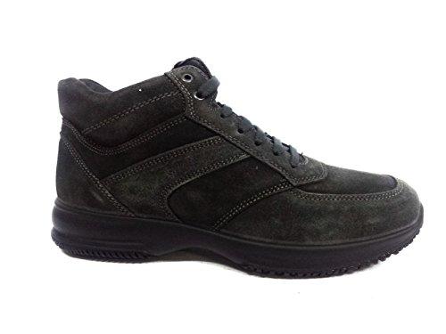 6895 GRIGIO Scarpa uomo sneaker Enval Soft pelle scamosciata made in Italy