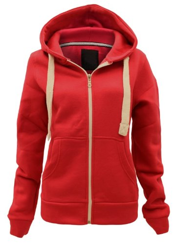 ENVYBOUTIQUE PLAIN HOODIE HOODED SWEATSHIRT JACKET