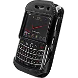 BlackBerry 9630 Elite Leather Case with Spring & Swivel Clip (Black)