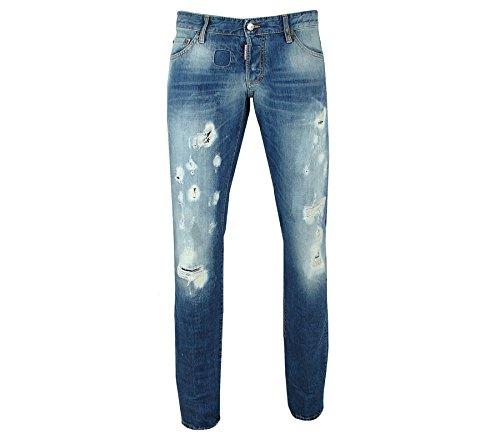 DSQUARED2 Slim Jean Hose Herren Jeans Denim Blau S71LA0893, Größenauswahl:48 thumbnail