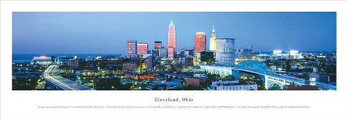 Professionally FRAMED CLEVELAND, OHIO skyline Panorama [Panoramic Photograph] Poster