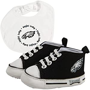 Brand New Philadelphia Eagles NFL Infant Bib and Shoe Gift Set by Things for You