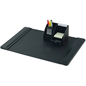 black leather desk set 2pc office desk. Black Bedroom Furniture Sets. Home Design Ideas