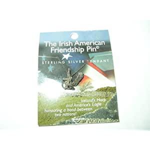 The Irish American Friendship Pin Sterling Silver Pendant