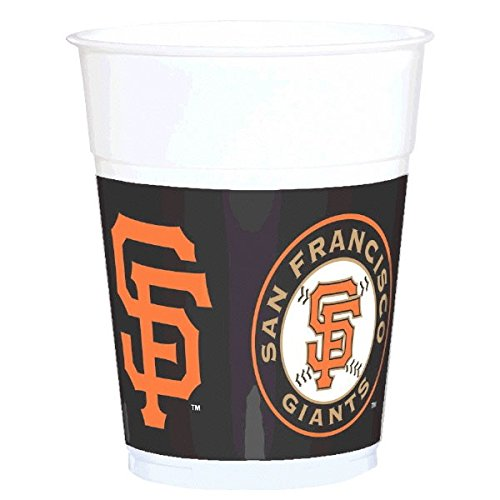Amscan Sports & Tailgating MLB Party San Francisco Treat Cups (25 Pack), Multi Color, 12.5 x 4""