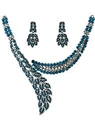 Anuradha Art Fancy Blue Necklace Set For Women - B014AN7OJC
