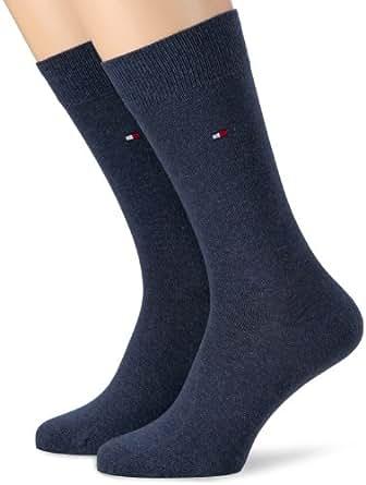 Tommy Hilfiger Herren Socken, Gr. 39-42 Blau (Jeans)