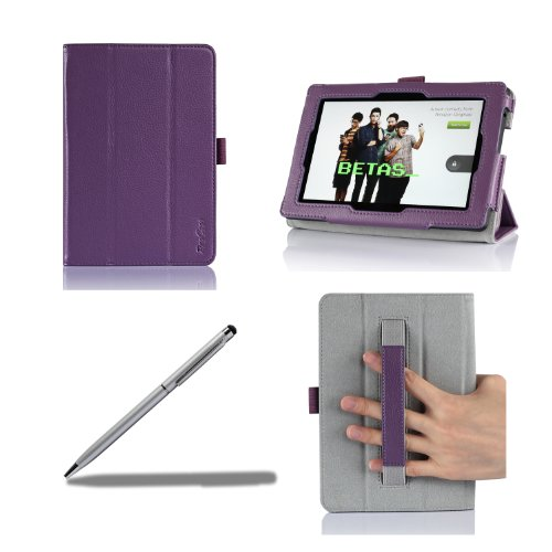 Cheapest Price! ProCase All New Kindle Fire HD 7 Case with bonus stylus pen - Tri-Fold Leather Stand...