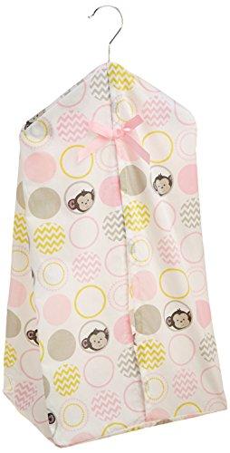 Bedtime Originals Diaper Stacker, Pinkie - 1