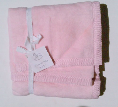 Peacock Alley Baby Pink Brushed 100% Cotton Blanket - 1