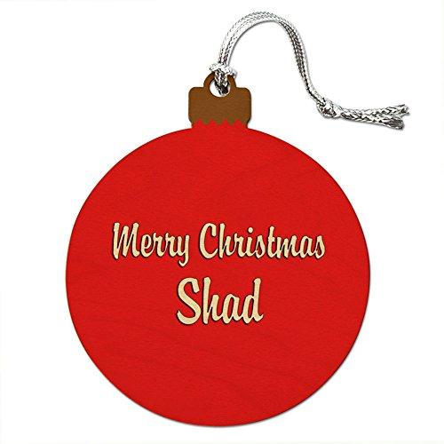 Holz Weihnachtsbaum rot Ornament Namen Stecker sa-sh, Shad