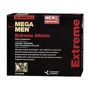 GNC Mega Men Extreme Athlete Vitapak 30 Packs NEW & Improved!