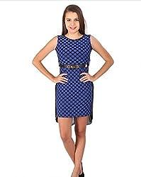 Vteens Blue & Black Asymmetrical Dress (Large)