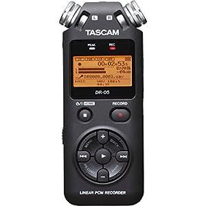 Tascam DR-05 (Version 2) Portable Handheld Digital Audio Recorder (Black) with Basic accessory bundle (Tamaño: Basic)