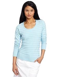 Adidas Golf Ladies Scoopneck Textured Sweater by adidas