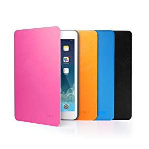 Anker® Ultra Slim Synthetic leather Case for Apple New iPad Mini / iPad Mini 2 - Multi Angle Stand - Smart Cover - Automatic Sleep / Wake function (Pink)