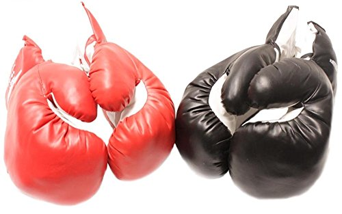 2 Pairs(1Red&1Black) 4oz Youth Kid Boxing Gloves - Punching Glove