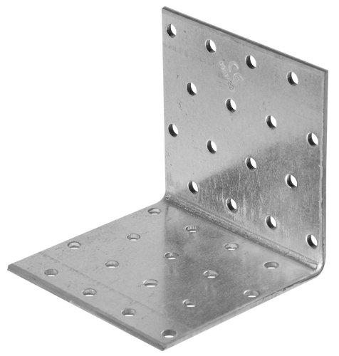 LOCHPLATTENWINKEL - gleichschenklig | feuerverzinkt | 60 x 60 x 60mm | CE GEPRÜFT | VE = 1 Stück
