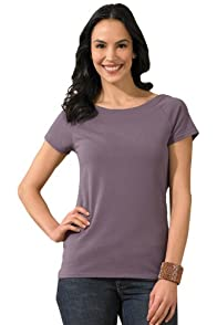 Fair Indigo Organic Pima Cotton Ballet Neck Tee
