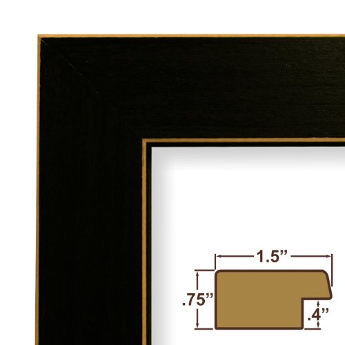 11x13 Picture / Poster Frame, Wood Grain Finish, 1.5