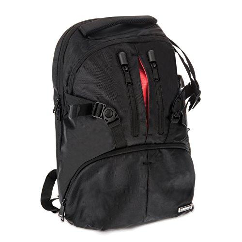 Caseflex Premium DSLR Camera Backpack - Professional Photography Rucksack Bag - Black [Compatible With Camera...