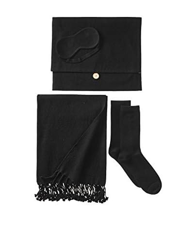 Nine Space Cashmere Travel Set, Black