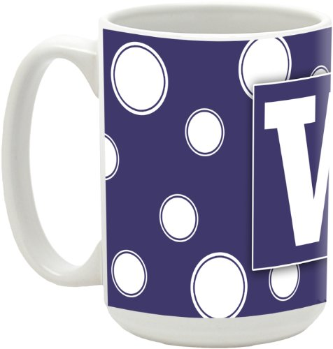 NCAA Washington Huskies 15-Ounce Polka Dots in Colors Ceramic Mug at Amazon.com