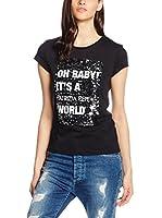 Patrizia Pepe Camiseta Manga Corta (Negro)