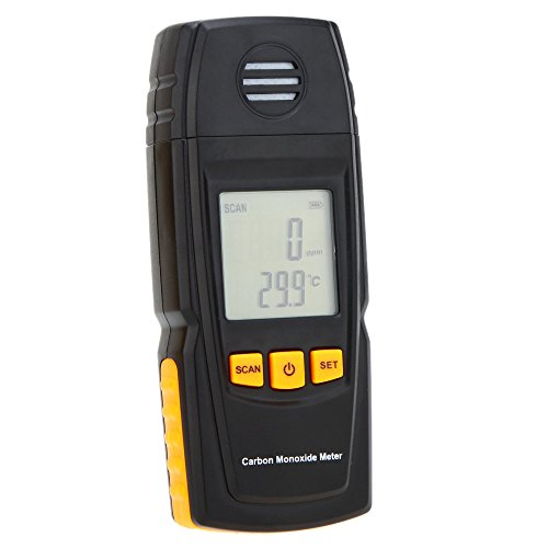 Handheld Carbon Monoxide Meter with High Precision CO Gas Tester Monitor Detector Gauge 0-1000ppm GM8805 (Carbon Monoxide Detector Black compare prices)