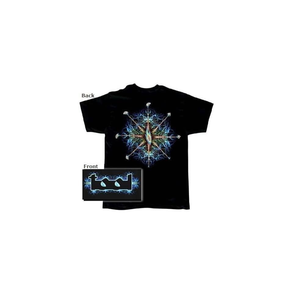 Rock Band Tool t shirt red eyes pattern 2 sided tee