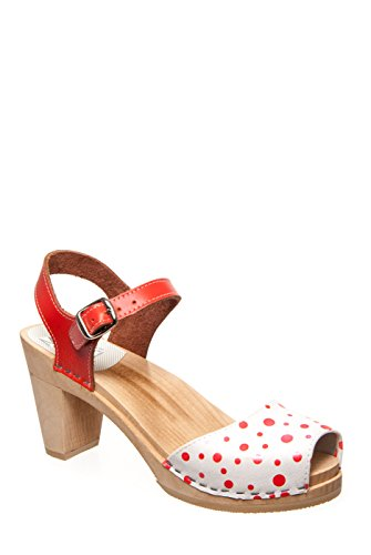 Maguba Bologna High Heel Sandal - Orange Polka