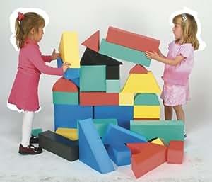 Giant foam block set ii 32 pcs toys games for Foam building blocks for houses