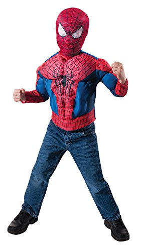 The Amazing Spider-Man 2 Muscle Chest Shirt and Mask Set