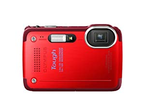 Olympus Stylus TG-630 iHS Digital Camera with 5x Optical Zoom and 3-Inch LCD (Red)